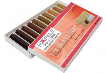 SOFT WAX STICK ASSORTMENT WOOD FILLER  Pack of 10 Cherry,Pear & Mahogany colours